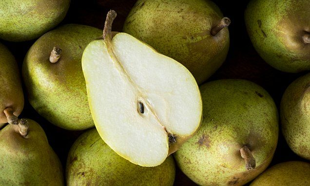 A new Australian study shows that pears can lower alcohol levels #DailyMail
