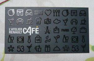 カフェのショップカード