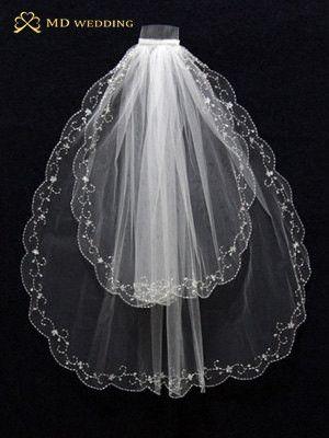 White/Ivory Short 2 Layer Veil Bridal Veil