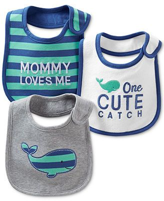 Carter's Baby Boys' 3-Pack Teething Bibs