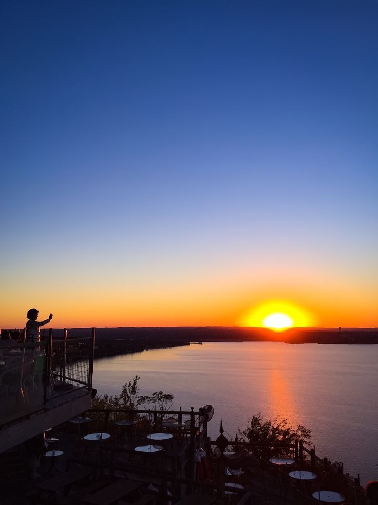 The Oasis on Lake Travis, in Austin, Texas. The perfect sunset!