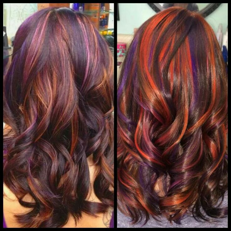 Red And Purple Lites Love Your Hair Pinterest Hair