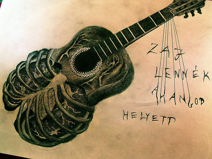 guitar drawing