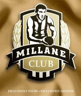 Millane Club logo designed for the Collingwood Football Club