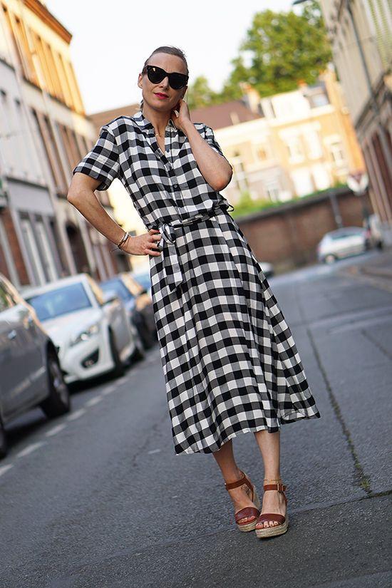 robe vichy #laRedoute #tendancevichy  http://www.modenmarie.com/la-robe-vichy.html