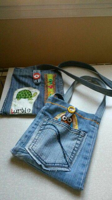Bolso para niñas de tejano reciclado