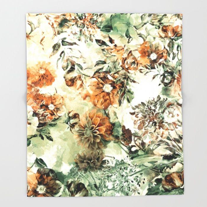 Dahlia II Throw Blanket #floral #home #decor #wallart #society6