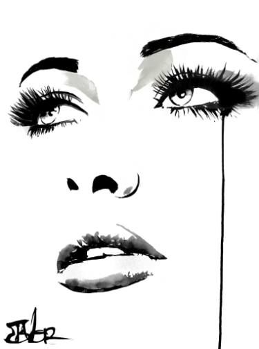 Buy the feeling, a Ink on Paper by LOUI JOVER from Australia. It portrays: Women, relevant to: jover,  series,  woman,  white,  ink,  emotion,  louijover this work forms part of a series of studies in ink of female faces, created on plain white arches artist paper. this work is ready to frame as desired..over 120 of these works created in the past 10 years are in private and corporate collections throughout the world.