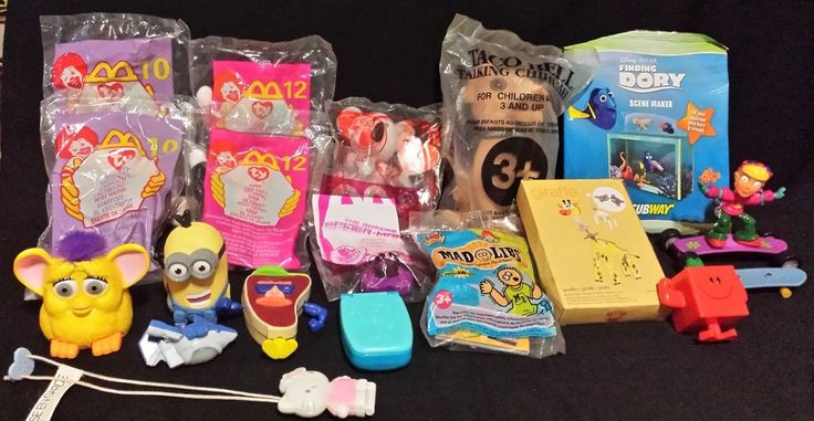 Lot of 20 Fast Food Toys Ty McDonalds Wendys Burger King Taco Bell Subway Arbys