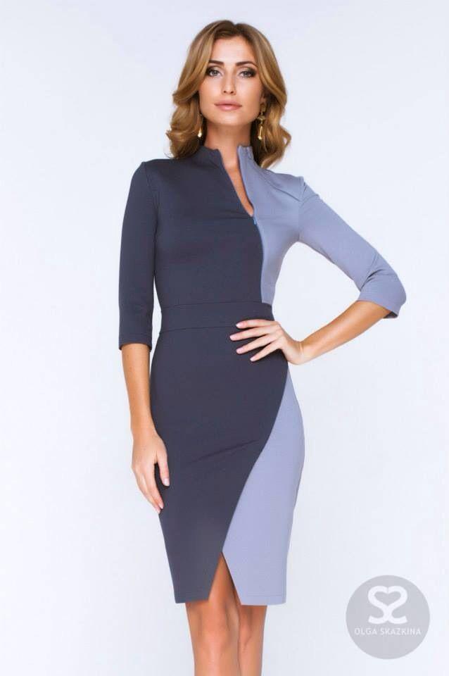 825 best комбинированные платье images on Pinterest   Block dress ...