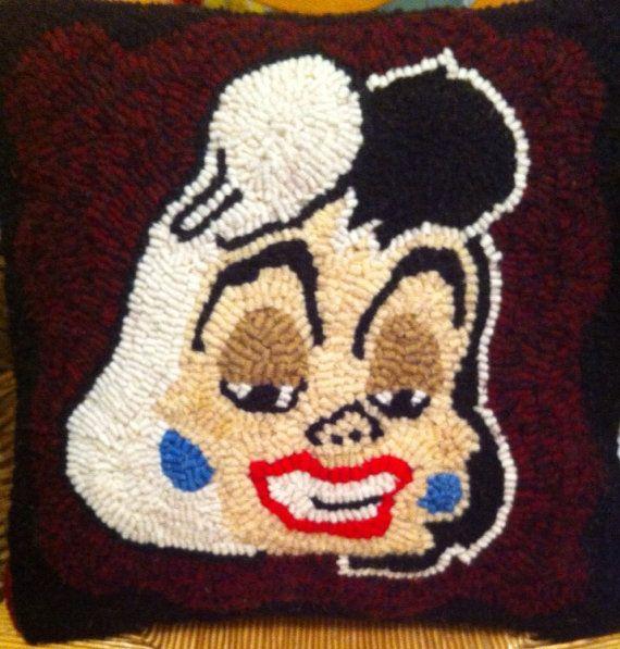 Cruella DeVille Pillow on Etsy, $60.00