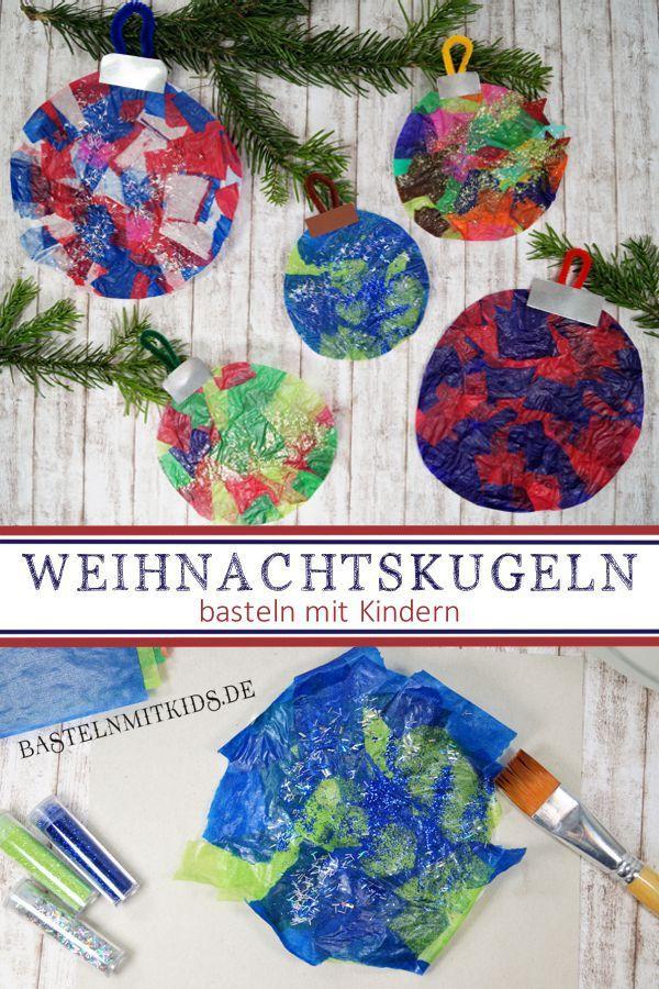 Mit Kindern Weihnachtsgeschenke Basteln.Winter Basteln Mit Kindern Art Christmas Weihnachtskugeln
