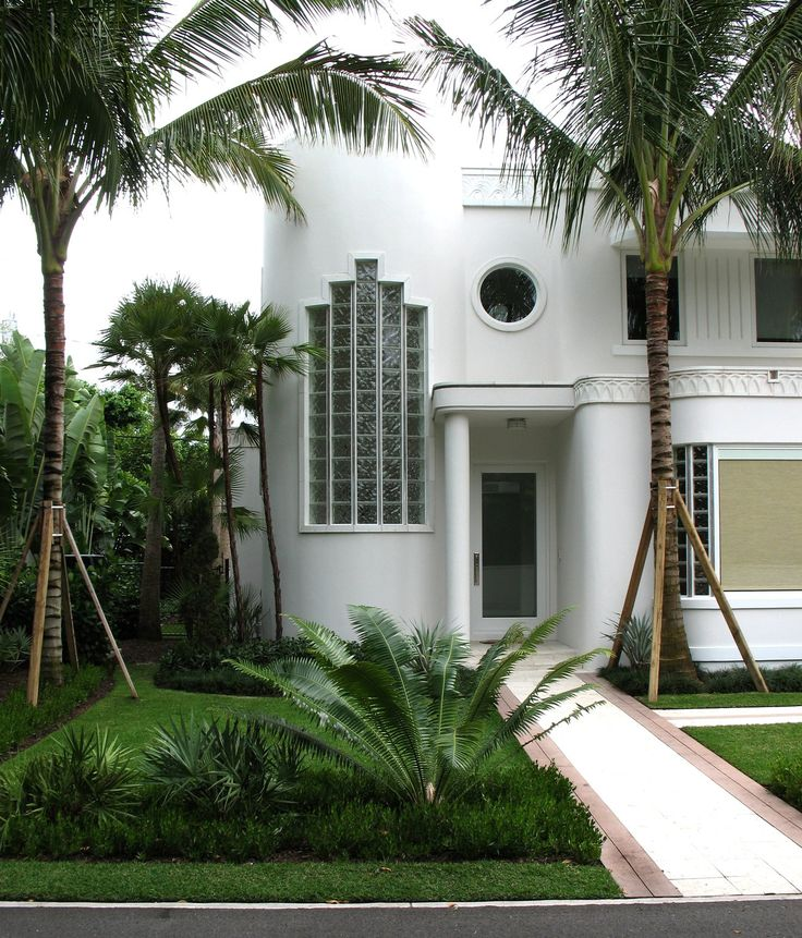 A Modern Art Deco Home Visualized In Two Styles: Palm Beach Art Deco House