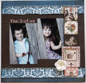The 2 of Us page created with BoBunny, Provence collection by Teena Hopkins for My Scrappin' Shop. #BoBunny