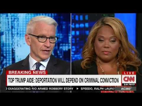 COREY LEWANDOWSKI ANGELA RYE VS ON ANDERSON COOPER - CNN (8/23/2016)