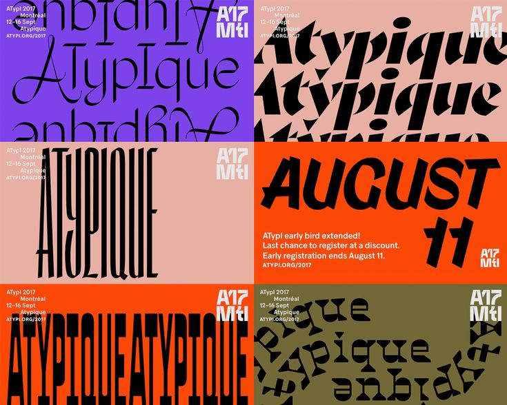 New Logo and Identity for ATypI 2017 by Julien Hébert