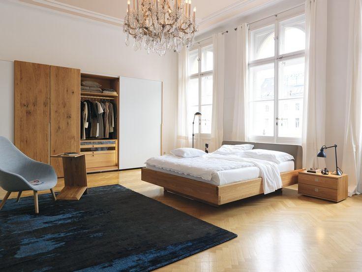 Team 7 Bett Nox im klassisches Design ist gepaart mit vielen Gestaltungsmöglichkeiten wie das Lederkopfteil und Sideboards und mehr