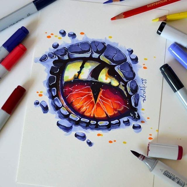 This dragon eye got commissioned to become a tatto…