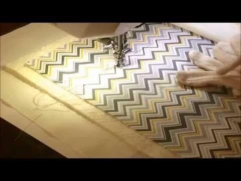 Swobodne pikowanie z użyciem wzoru na tkaninie - cz.1 - YouTube