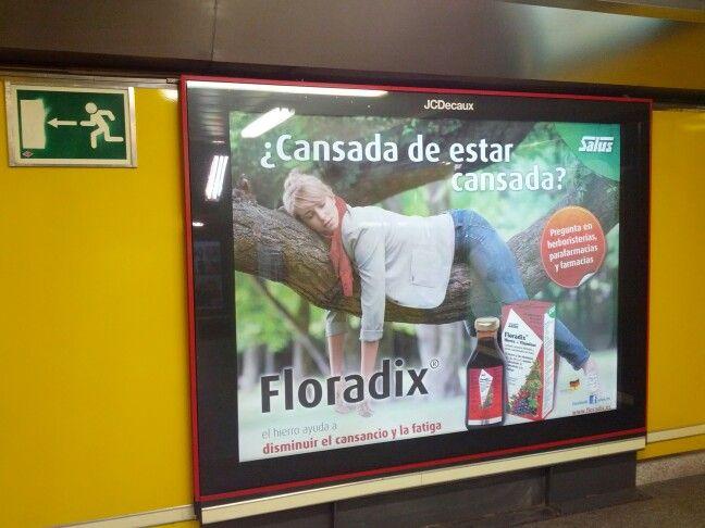Floradix se anuncia en el metro de Madrid