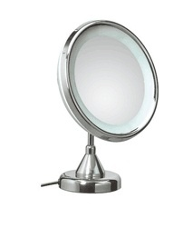 Photos On Elegant modern high end luxurious free standing plug in lighted magnifying bathroom mirror