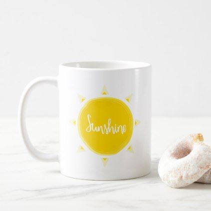 Sunshine Yellow | Mug - gift for her idea diy special unique