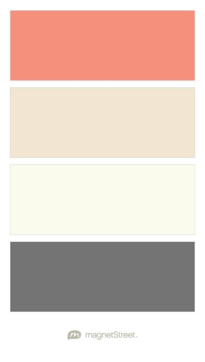 Coral, Champagne, Ivory, and Charcoal Wedding Color Palette - custom color palette created at MagnetStreet.com