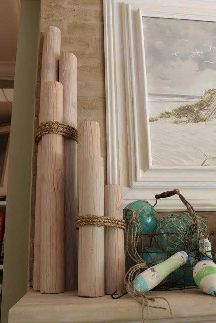 Make Decorative Nautical Piling From Foam Pool Noodles