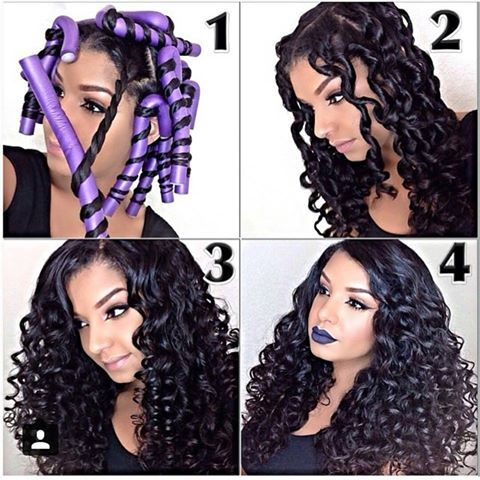 Get these gorgeous curls with flexi rods. The trick is to twist your hair first!