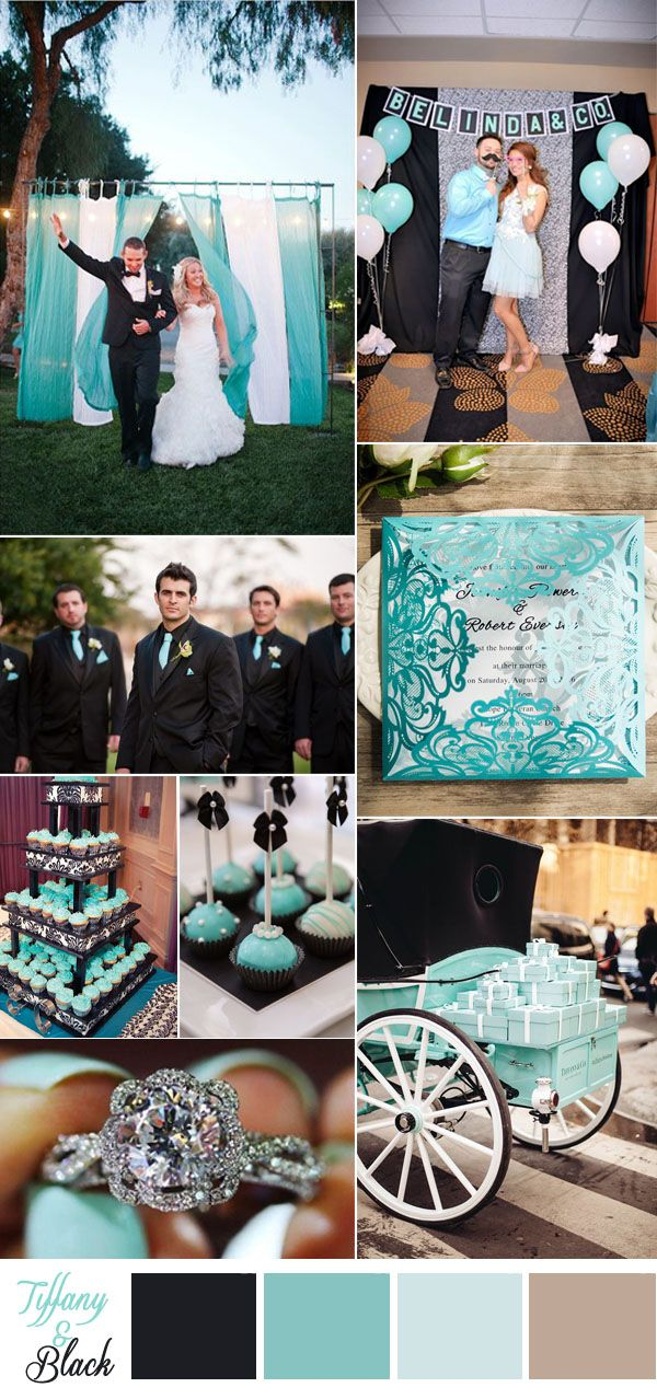 tiffany blue and black wedding colors