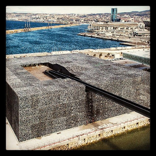 #MuCEM is like #Aphrodite, rising from the sea in #Marseille! #Lafarge #Ductal…