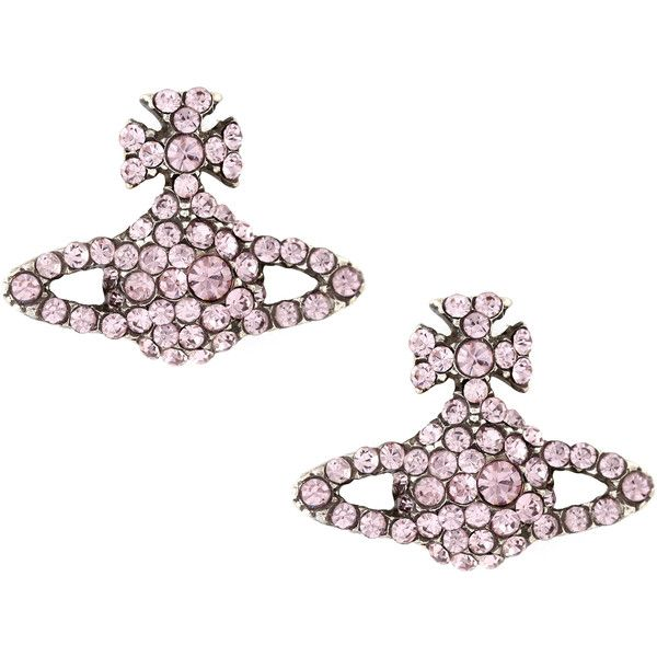 Vivienne Westwood Grace Bas Relief Stud Earrings (3165 TWD) ❤ liked on Polyvore featuring jewelry, earrings, stud earrings, vivienne westwood jewellery, vivienne westwood, stud earring set and vivienne westwood earrings