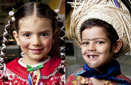 Festa Junina   Passo a passo e makes para a criançada arrasar. Maquiagem infantil para as festas de São João