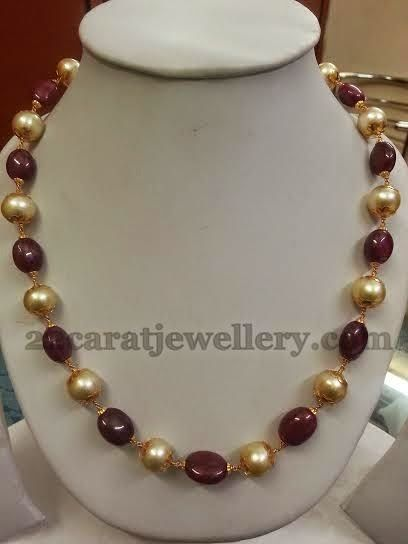 Jewellery Designs: Nice Pretty Beads Necklace