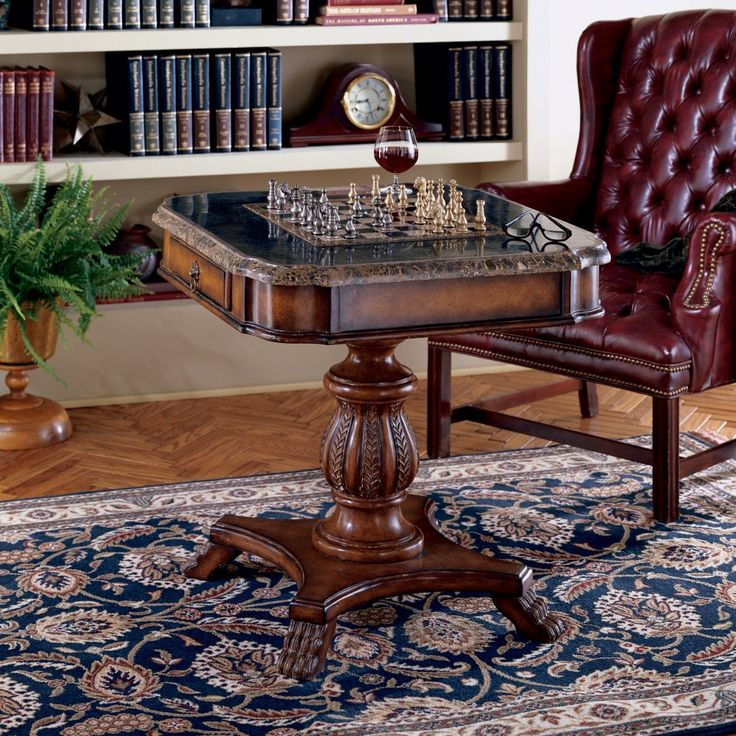 Butler Heritage Collection Wood Pedestal Game Table - There's no better place to sit on a rainy day than across from a friend at the Butler Heritage Collection Wood Pedestal Game Table. This beautiful ped...