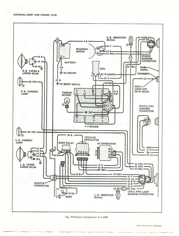1964 chevy truck fuse box diagram