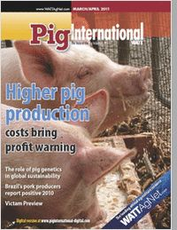 Bringing the Latest Product & Marketing News to the Pig Industry.  Pig International is distributed in 144 countries worldwide to qualified pig industry professionals. Each issue covers nutrition, animal health issues, feed procurement and how producers can be profitable in the world pork market. Geographic Eligibility: USA (Print or Digital Edition), Mexico, International (Digital Edition Only)