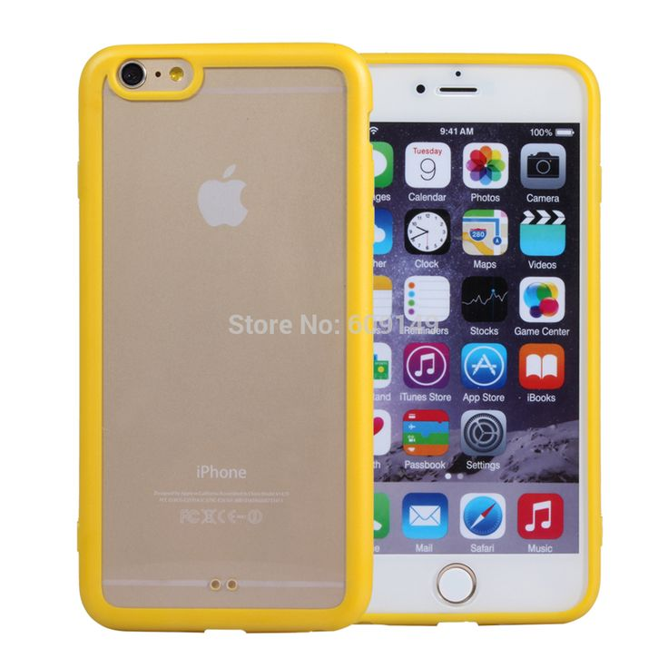 """200pcs/lot Free shipping 10colours Rainbow Transparent TPU+Acrylic cell phone cover case for iphone 6 plus 5.5"""" shell Digital Guru Shop"""
