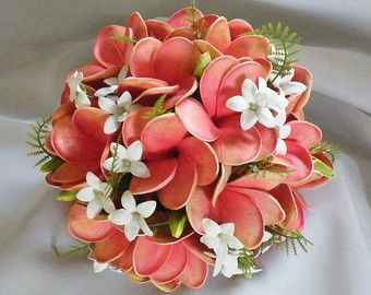 Frangipani Plumeria Bouquet Posy Real Touch Destination