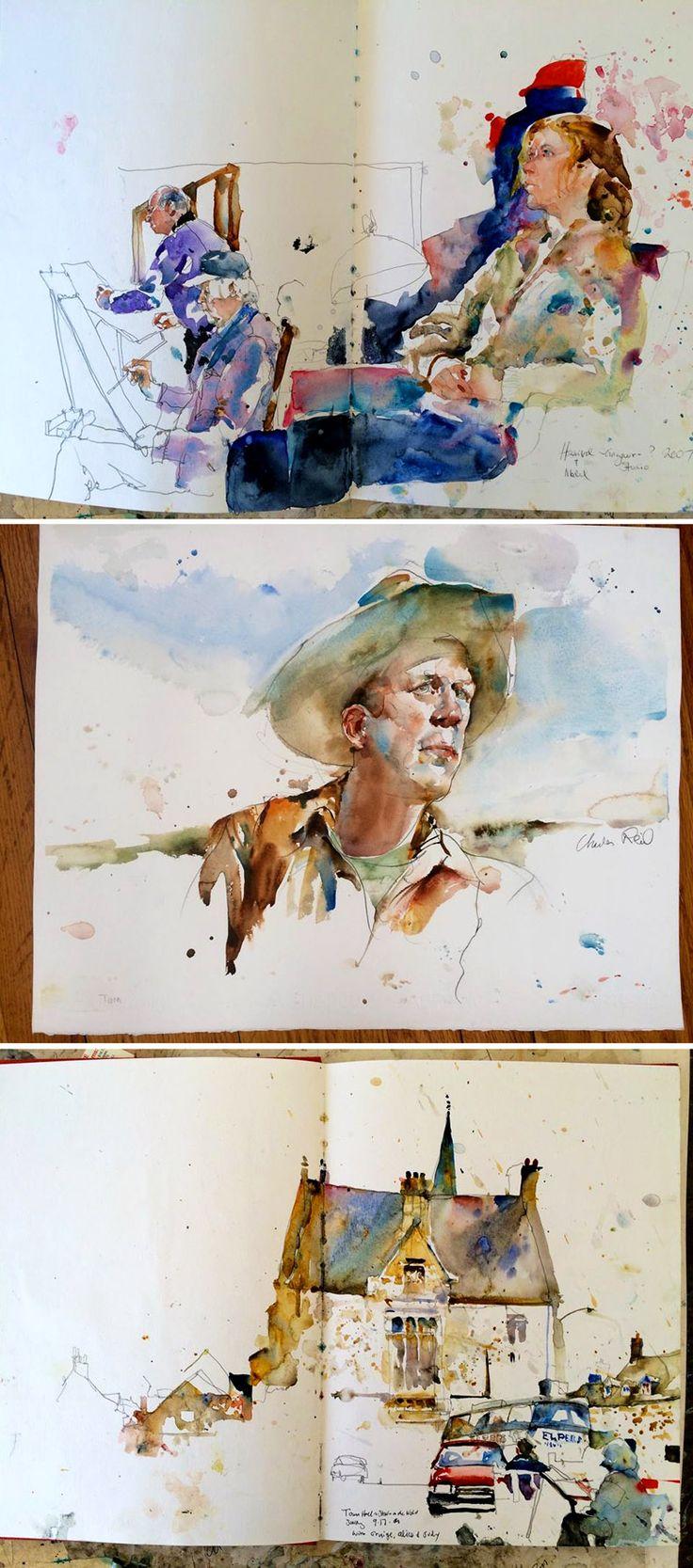 Charles Reid #watercolor #sketch #journal