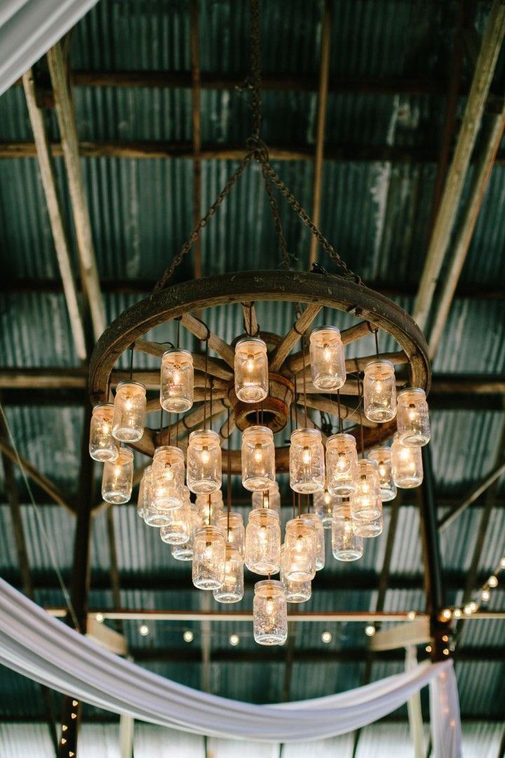 rustic wedding reception idea; photo: Mirelle Carmichael Photography