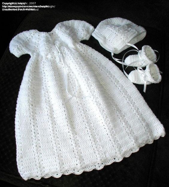 Free Crochet Christening Layette Patterns | Needle Arts: haighr picture (Christening Gown Crochet Pattern)