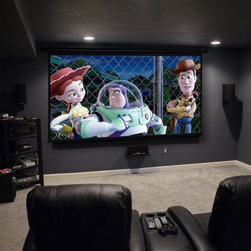 Theater Room With Hidden Projector: 38 Best Projector Screen Images On Pinterest
