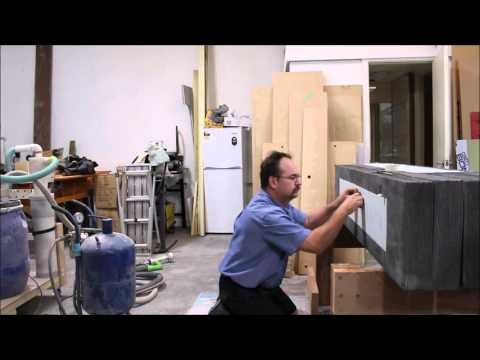 Etching Ranelagh Estate concrete seat tops - YouTube