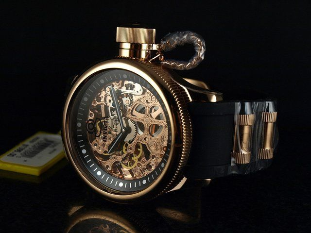 INVICTA Russian Diver Skeleton Rose Gold Watch