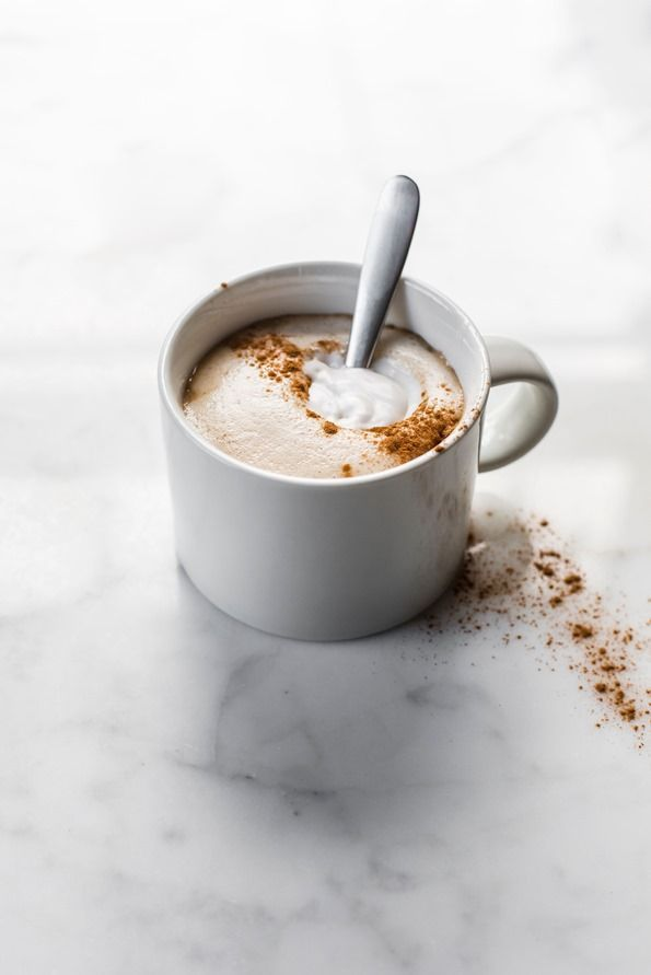 Homemade Pumpkin Spice Latte with Salted Pumpkin Spice Syrup — Vegan and refined sugar-free! Oh my, this is addictive!