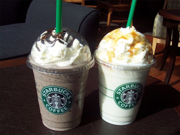 to not get enough vanilla bean fraps with caramel drizzle or double chocolate chip