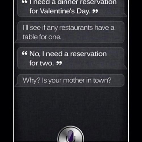 oh, siri - you get it girl