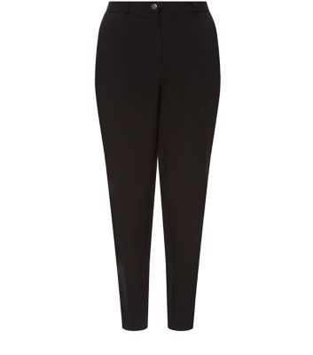 "Bring this black trousers into a work-wear wardrobe - as a classic go to piece.- High waisted design- Button and zip fly fastening- Slim leg- Pocket detail- Belt loops- Model is 5'8""/176cm and wears UK 10/EU 38/US 6"