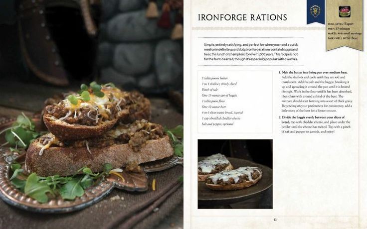 """Coming this October from the author of the official Game of Thrones cookbook, World of Warcraft: The Official Cookbook will have you searching """"where can I buy canned haggis"""" in Google more often than you already do."""